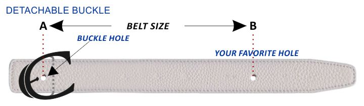 Belt Size Detachable Buckle Explained